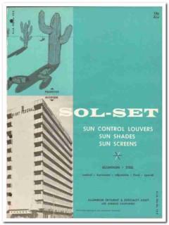 Aluminum Skylight Specialty Corp 1962 Vintage Catalog Shades Sol-Set
