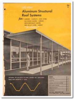 Lite-Vent Industries Inc 1962 Vintage Catalog Roof Aluminum Structural