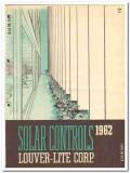 Louver-Lite Corp 1962 Vintage Catalog Windows Solar Controls Canopies