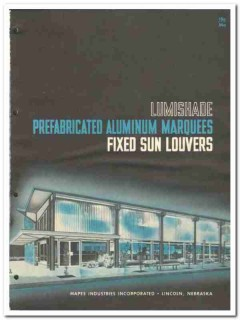 Mapes Industries Inc 1962 Vintage Catalog Lumishade Marquee Sun Louver