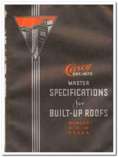 Philip Carey Company 1933 Vintage Catalog Roof Asbestos Built-Up