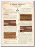 Pecora Paint Company 1933 Vintage Catalog Mortar Stains Sash Putty