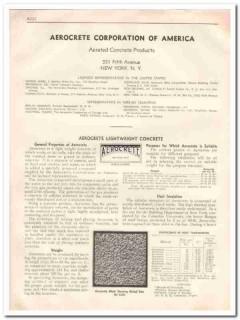 Aerocrete Corp Of America 1933 Vintage Catalog Concrete Aerated