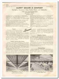 Albert Grauer Company 1933 Vintage Catalog Roofing Structural Glass