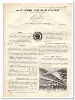 Pennsylvania Wire Glass Company 1933 Vintage Catalog Roofing Skylights