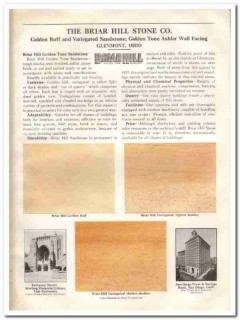 Briar Hill Stone Company 1933 Vintage Catalog Sandstone Ashlar Facing