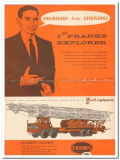 Cabot Shops Inc 1959 Vintage Ad Franks Explorer Engineered Experience