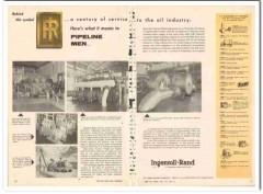 Ingersoll-Rand 1959 Vintage Ad Oil Industry Pipeline Century Service