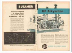 Universal Oil Products Company 1959 Vintage Ad Butamer HF Alkylation
