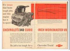 chevrolet 1959 torque 348 ci workmaster v8 truck engine vintage ad
