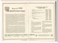 British Petroleum Company 1959 Vintage Ad BP Group Income Statement