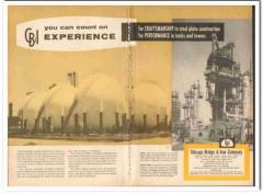 Chicago Bridge Iron Company 1959 Vintage Ad Oil Tank Tower Experience