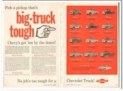 chevrolet 1959 big truck tough fleetside stepside pickup vintage ad