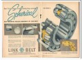 Link-Belt Company 1959 Vintage Ad Features Spherical Roller Bearing