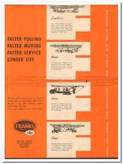 Cabot Shops Inc 1959 Vintage Ad Franks Explorer Rocket Cruiser Clipper