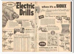 albertson company 1959 certified sioux electric drills tool vintage ad