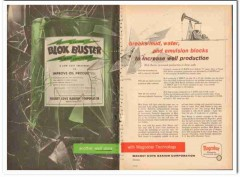 Magnet Cove Barium Corp 1959 Vintage Ad Oil Well Magcobar Blok Buster