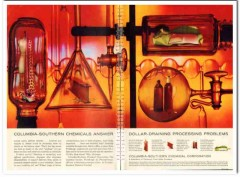 columbia-southern chemical 1959 dollar-draining processing vintage ad