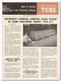 Calumet Hecla Inc 1959 Vintage Ad Oil Wolverine Tube Heat Exchanger