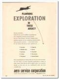 Aero Service Corp 1959 Vintage Ad Survey Planning Exploration Airborne