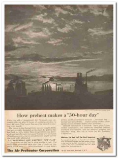 Air Preheater Corp 1959 Vintage Ad Oil Ljungstrom 30-Hour Recover BTUs