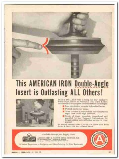 American Iron Machine Works 1959 Vintage Ad Oil Double-Angle Insert