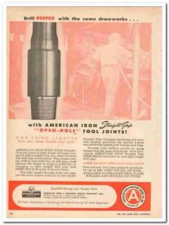 American Iron Machine Works 1959 Vintage Ad Oil Drill Deeper Drawworks