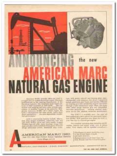 American Marc Inc 1959 Vintage Ad Engine GAC-2 Air Cooled Natural Gas