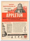 appleton electric company 1959 safe mercury vapor fixtures vintage ad