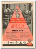 appleton electric company 1959 unilets safety required vintage ad