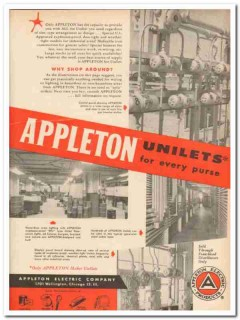 appleton electric company 1959 unilets why shop around vintage ad