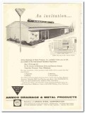 Armco Steel Corp 1959 Vintage Ad Drainage Metal Products Invitation