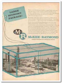 Arthur G McKee Company 1959 Vintage Ad Raymond Large Economy Package