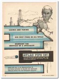 Atlas Pipe Inc 1959 Vintage Ad Casing Tubing Wells Services Specialist