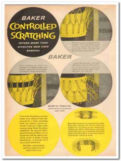 Baker Oil Tools Inc 1959 Vintage Ad Controlled Scratching Mud Cake