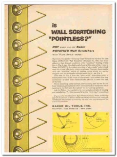Baker Oil Tools Inc 1959 Vintage Ad Rotating Wall Scratching Pointless