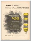 Baker Oil Tools Inc 1959 Vintage Ad Sure Wire Line Bridge Plug
