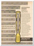 Baker Oil Tools Inc 1959 Vintage Ad Dependable Cement Retainer Drill