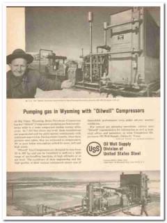 Belco Petroleum Corp 1959 Vintage Ad Ike Fletcher Oilwell Compressors