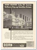Born Engineering Company 1959 Vintage Ad Oil Heaters Refinery Gasoline