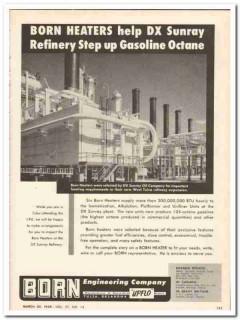 Born Engineering Company 1959 Vintage Ad Oil Heaters Refinery Gasoline