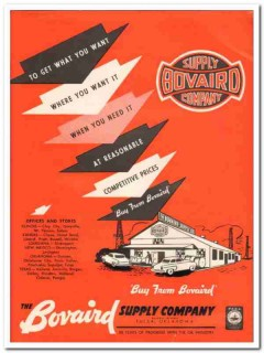 Bovaird Supply Company 1959 Vintage Ad Oil Field Want What Where When