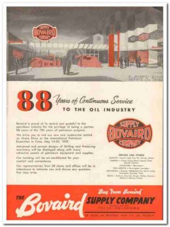 Bovaird Supply Company 1959 Vintage Ad Oil 88 Years Continuous Service