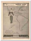 braniff international airways 1959 edmonton calgary casper vintage ad