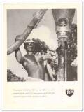 British Petroleum Company 1959 Vintage Ad Oil Tanganyika Failing Rig