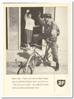 British Petroleum Company 1959 Vintage Ad BP Renato Raggi Melzo Italy