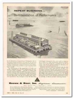 Brown Root Inc 1959 Vintage Ad Oil Creole Petroleum Corp Venezuela