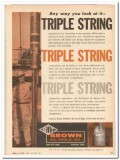 Brown Oil Tools Inc 1959 Vintage Ad Triple String Well Completion
