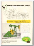 Cabot Shops Inc 1959 Vintage Ad Oil Franks Check Pumping Costs Rugged