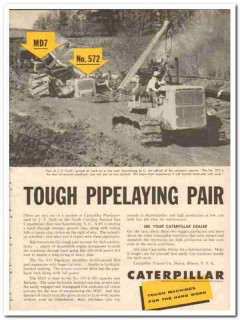caterpillar tractor company 1959 jp neill pipelaying pair vintage ad